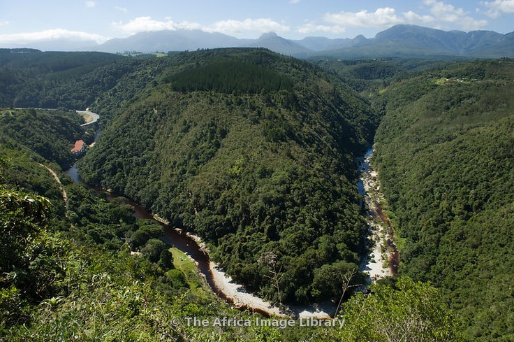 'Map of Africa', view of the Kaaimans River valley, Wilderness National Park, Garden Route, South Africa