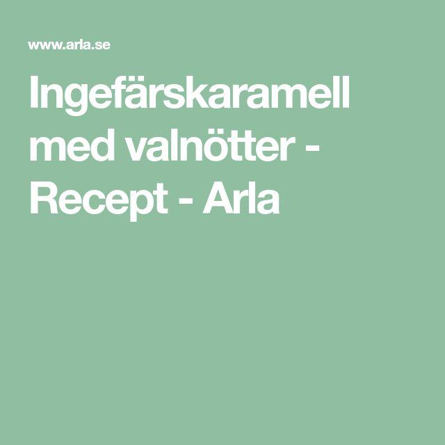 Ingefärskaramell med valnötter - Recept - Arla