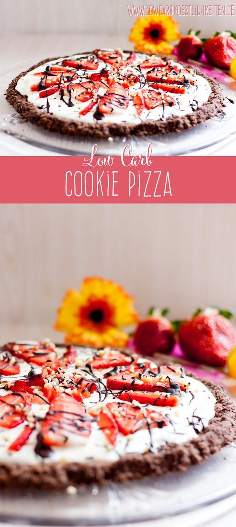 Fruchtige Low Carb Cookie Pizza www.lowcarbkoestlichkeiten.de #lowcarb #glutenfrei #zuckerfrei