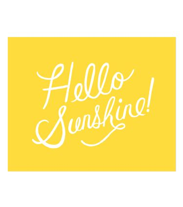 "A ""Hello Sunshine"" print for those cold, gloomy days from our fave Rifle Designs. #carouseldesigns #pinparty"