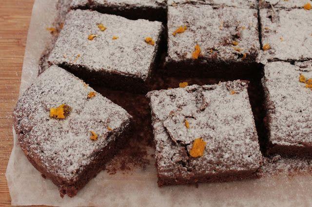 As Minhas Receitas: Quadrados de Chocolate e Laranja