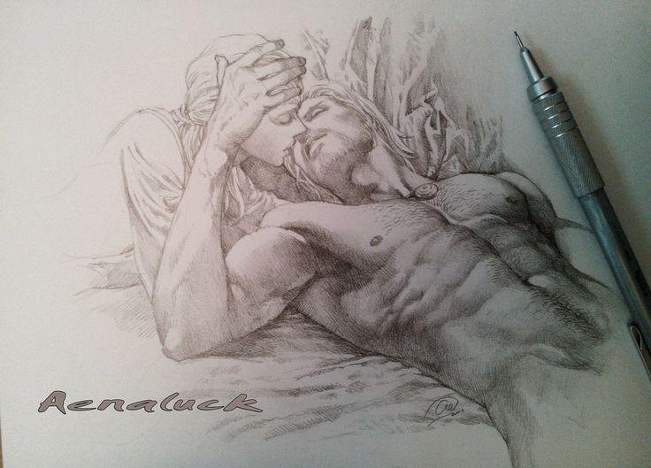 Rowan and Aelin [Romantic Scene by aenaluck on DeviantArt]
