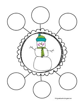 """how to make a snowman"" graphic organizer for writing activity"