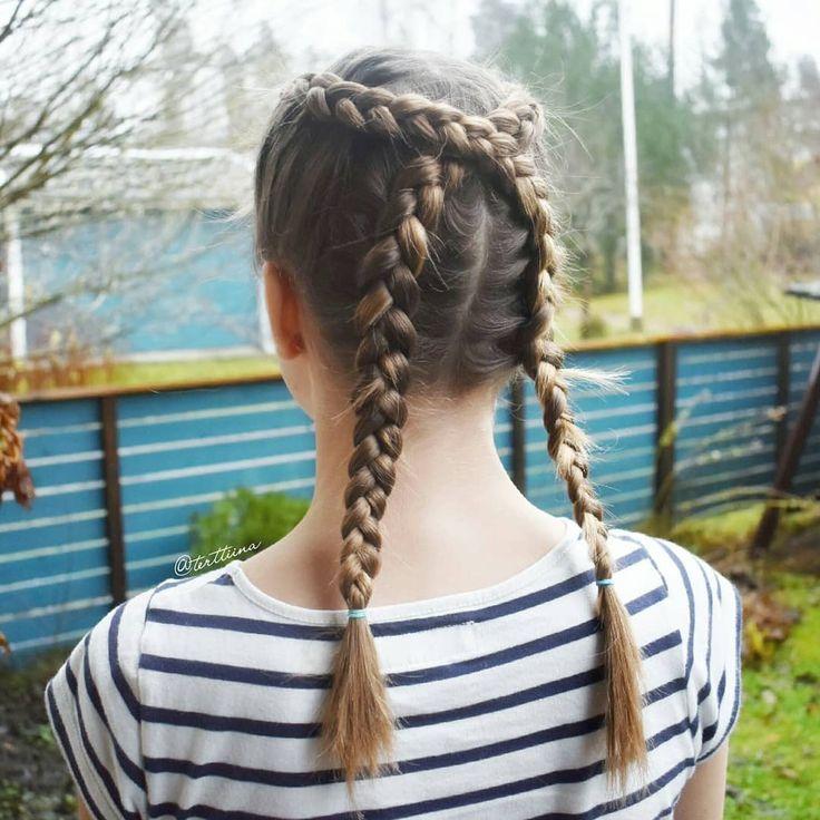 Braids & Hair by @terttiina Instagram: Criss crossing dutch braids!