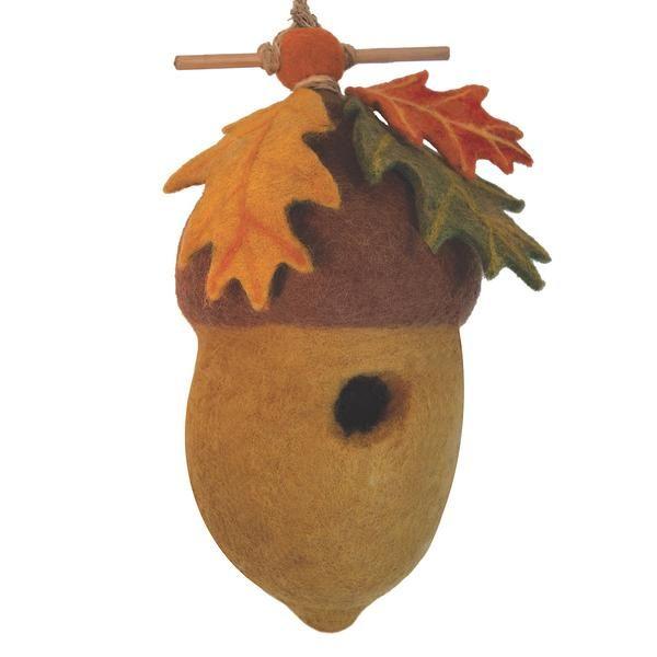 Felt Birdhouse - Pin Oak Acorn Handmade and Fair Trade