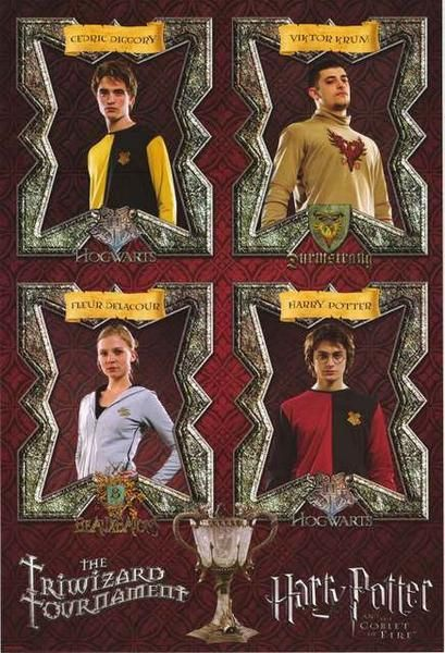A great Harry Potter and the Goblet of Fire movie poster! The contestants from Hogwart's Triwizard Tournament! Published 2005. Fully licensed. Ships fast. 24x36