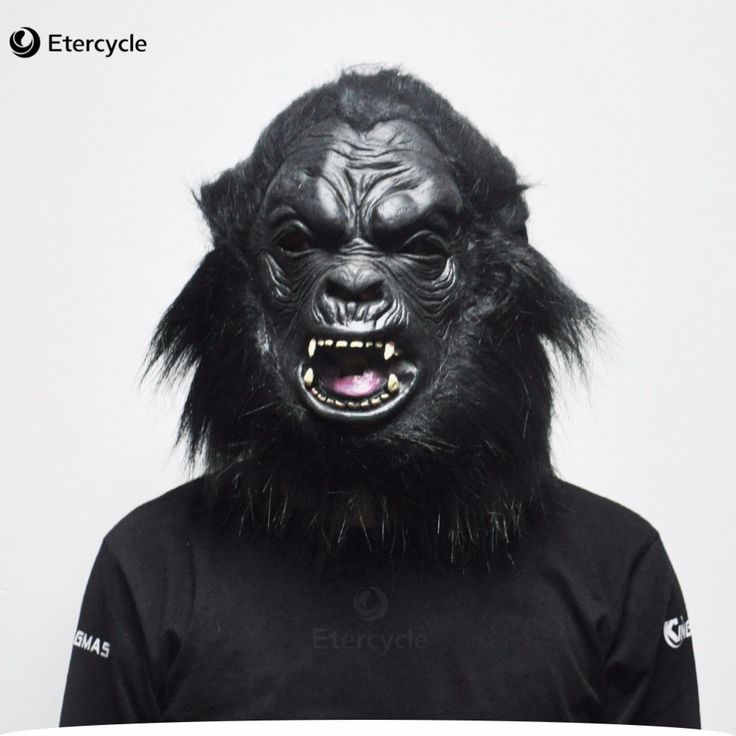 Horror Gorilla Masks Realistic Halloween Creepy Animal Latex Mask Chimpanzee Ape-man Cosplay