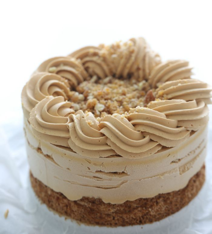 Salted caramel ice cream cake & almond crust – Passion 4 baking