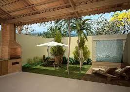 Image result for como decorar um quintal pequeno com churrasqueira e piscina
