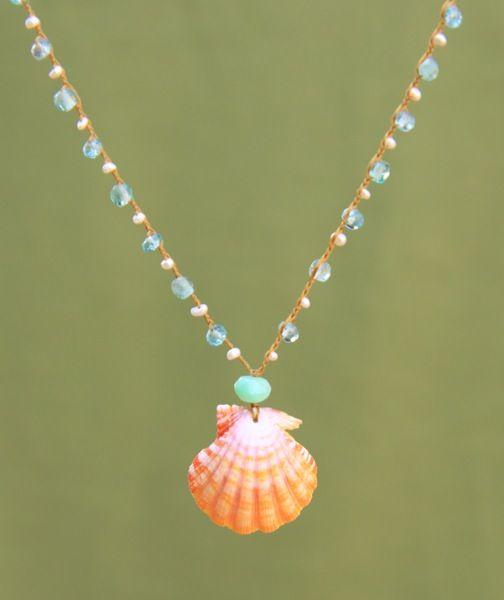 B O H E M I A N ☮ ❁ ғollow ↠ @ladyѕcorpιo101 ↞ on pιnтereѕт & ιnѕтagraм ғor мore ιnѕpιraтιon ☪ ☆ mermaid Sunrise Shell Necklace