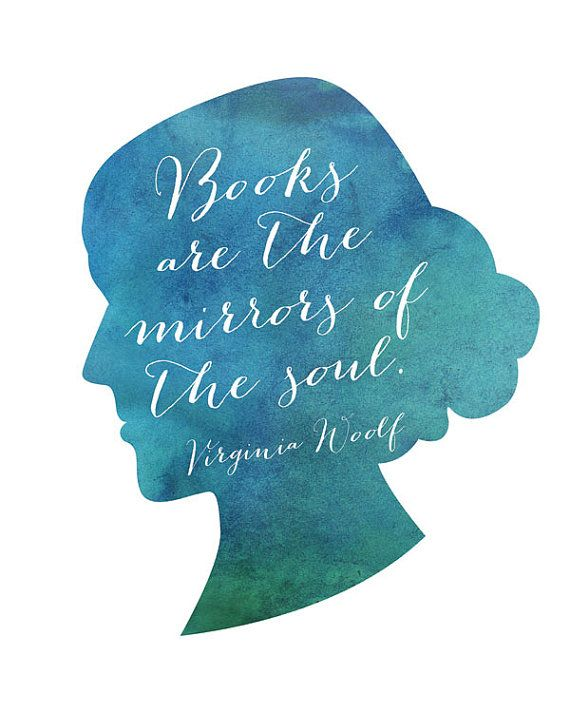 Books Are The Mirrors Of The Soul Virginia by PrintableQuirks