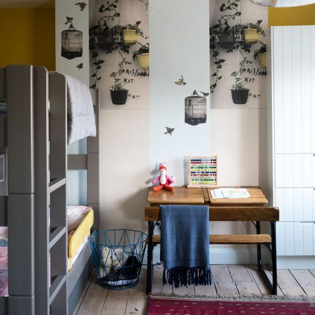 Modern children's room with bunk beds