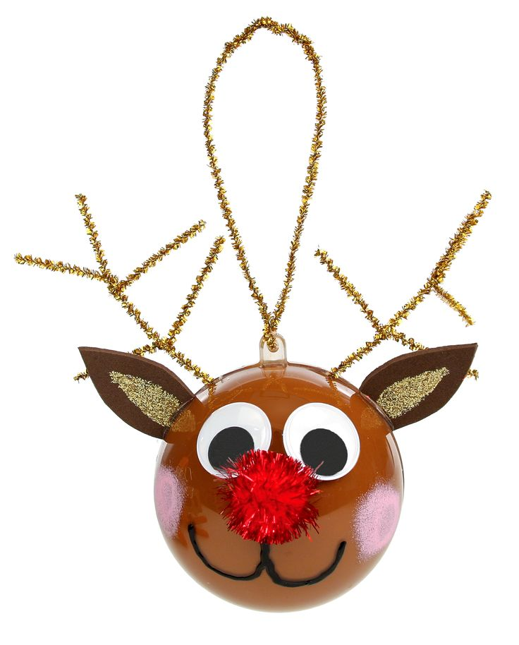 Nicole™ Crafts Reindeer Ornament #ornaments #craft #christmas