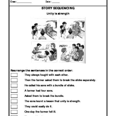 Worksheet of Story Sequencing-Story Writing-Writing