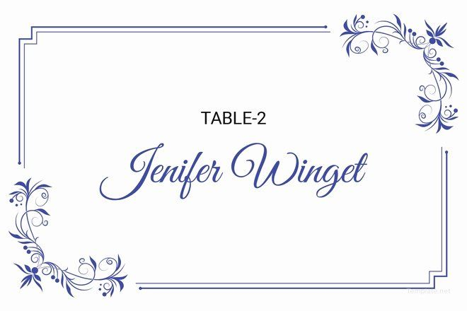 Place Cards Template Wedding Fresh 25 Wedding Place Card Templates Printable Place Cards Place Card Template Free Place Card Template
