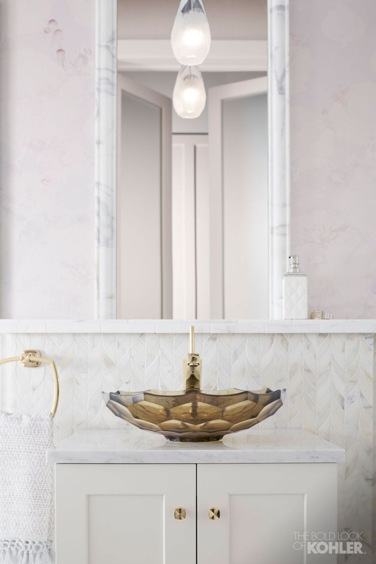 Flight Of Fancy Bathroom Small Vanity Powder Room