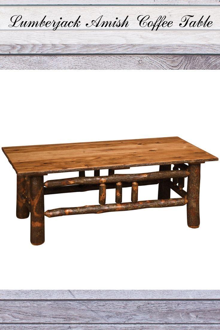 Lumberjack Amish Coffee Table Rustic Style Furniture Coffee Table Rustic Furniture Diy