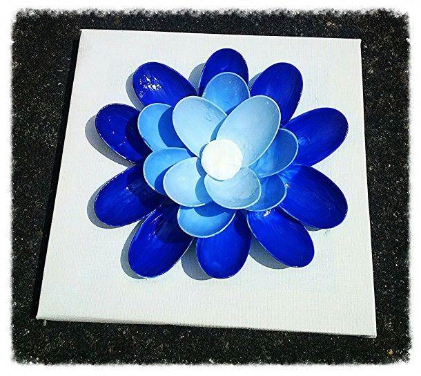 3D bloem van plastic lepels