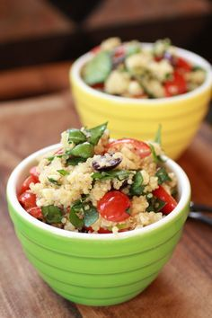 mediterranean quinoa salad  This stuff is so good.