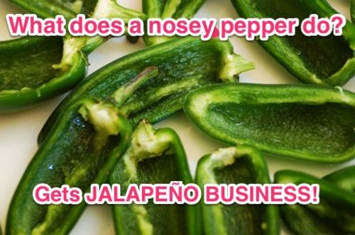 What does a nosey pepper do??