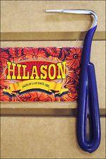 PURPLE HILASON HORSE TACK ZINC PLATED HOOF PICK WITH VINYL COATED HANDLE