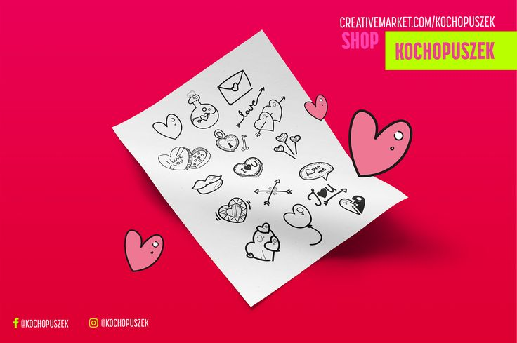 """Check out this @Behance project: """"Cute set for Valentine's Day"""" https://www.behance.net/gallery/47579361/Cute-set-for-Valentines-Day"""