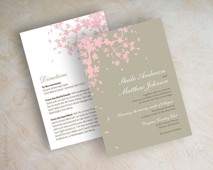 1780 best cherry blossoms wedding invitations images on pinterest,