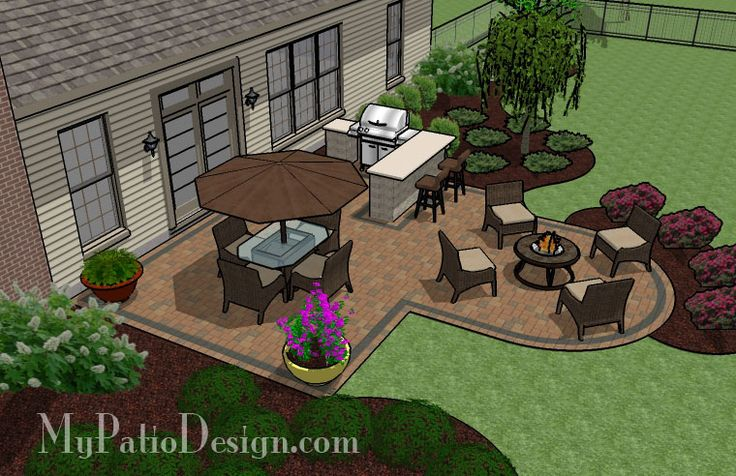 Simple Patio for Entertaining   Patio Designs and Ideas. Maybe if I had a pretty patio,I would give up my longing for a screened in porch?