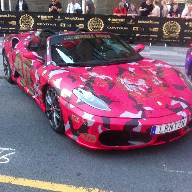 Pink Camo Ferrari 458 Italia Via