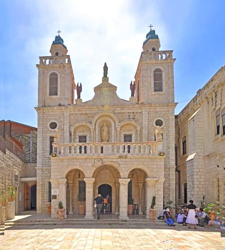 "The ""Wedding church"" in Cana, Israel Where Jesus turned water into wine. (pic by Nicola e Pina Israel, Panoramio)"
