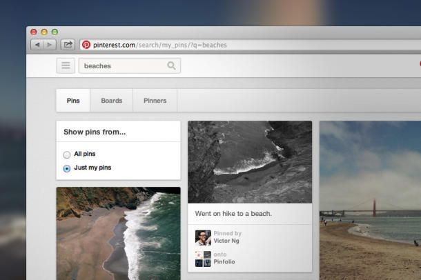 #Pinterest adds ability to search your own pins