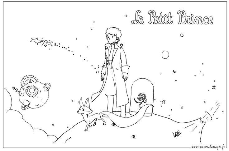 Le petit prince et le renard un max de coloriages pinterest prince - Coloriage renard ...
