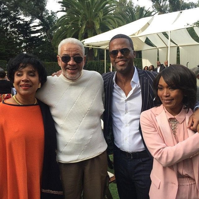 """Phylicia Allen-Rashad, Bill Withers, @ajcalloway and @ImAngelaBassett at @oprah's @selmamovie legends gospel brunch."""