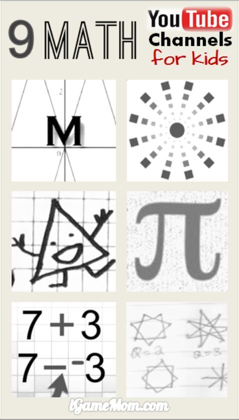 Math Youtube: 181 Best Images About School-Age Math & Science On