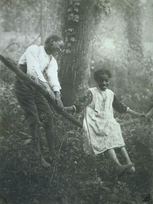 The Grape-Vine Swing  ca. 1895  Photographer, location unidentified  Smithsonian American Art Museum