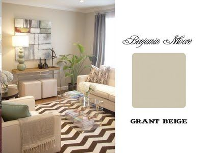 Default wall color through out the house if I can't find a gray I want. It's a taupy beige.... Grant Beige BM