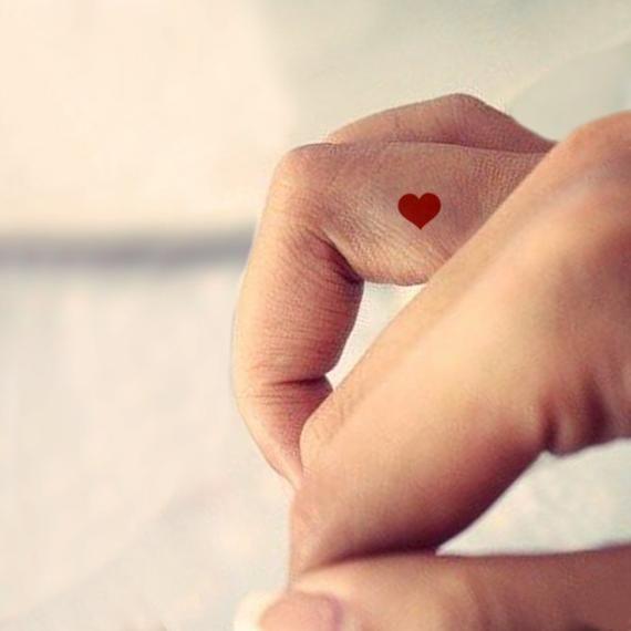 Small Red Heart Temporary Tattoo Set Of 9 Tiny Heart Tattoos
