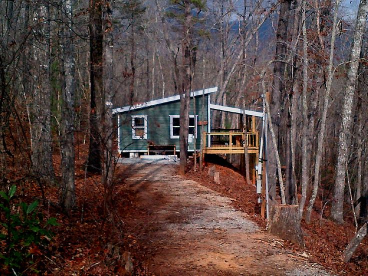 20 X 24 Shed Roof Cabin In Upstate South Carolina Rustic