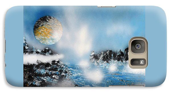 Light Rain Galaxy S7 Case Printed with Fine Art spray painting image Light Rain by Nandor Molnar (When you visit the Shop, change the orientation, background color and image size as you wish)