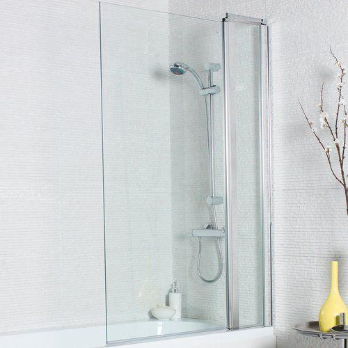 Belfry Bathroom Neve 1400 X 1000 Mm Straight Glass Hinged Bath Screen Glass Hinges Bath Screens Shower Sliding Glass Door