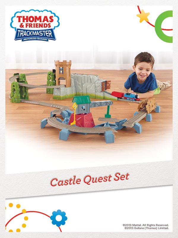 Your little engineer can help Thomas navigate the crumbling castle grounds while searching for the missing king's crown! For a chance to win, click here: http://fpfami.ly/01497 #FisherPrice #Train #Toys