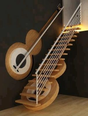 Guitar Stairway by Preetham Dsouza, Interior designer, Mangalore, India