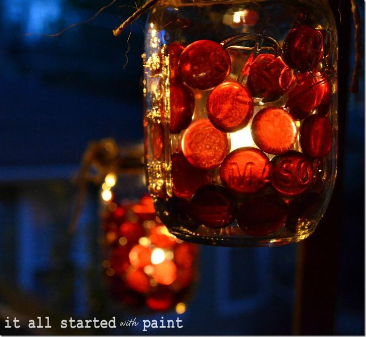 Fall votive idea with mason jar