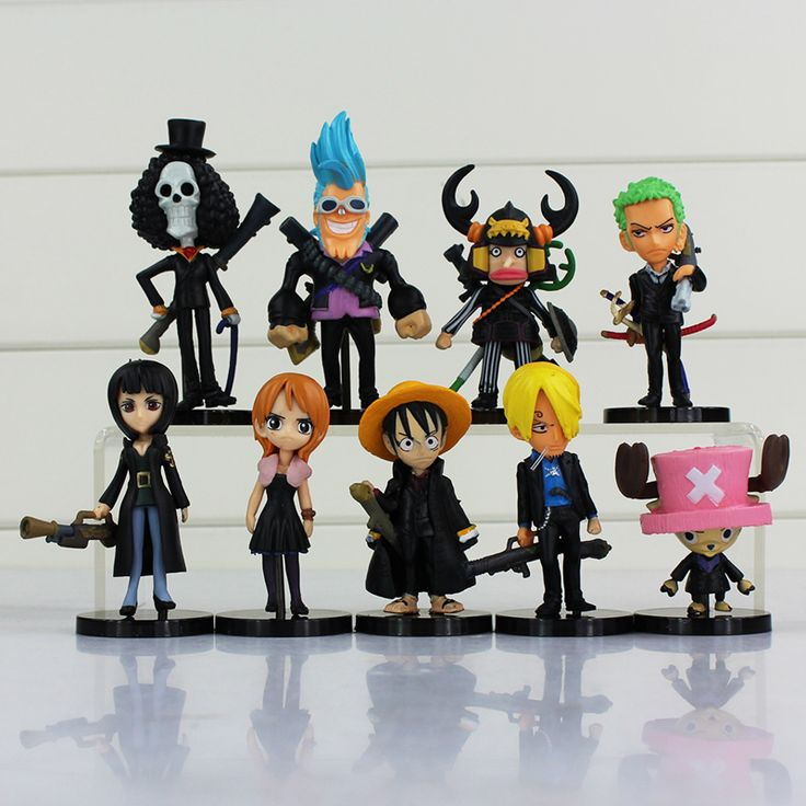 9pcs ONE PIECE Luffy Nami Chopper Robin Zoro Sanji Brook Golden Lion Shiki Figure //Price: $23.00 & FREE Shipping //     #onepiece #onepieceanime #dluffystore