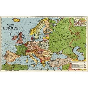 Euroopan kartta -juliste
