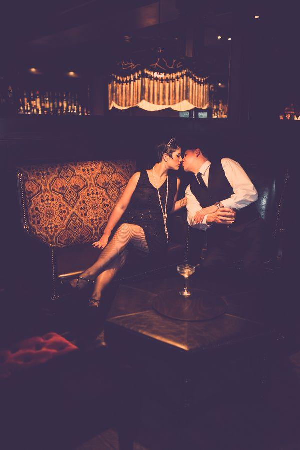 1920's Speakeasy Engagement Shoot| Photo by:  Christian Pleva Images