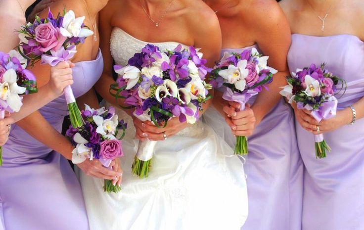 purple flower wedding arrangements | wedding flower bouquets ideas for purple color most beautiful wedding