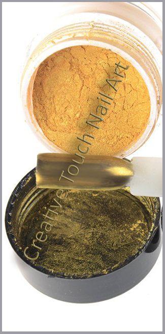 Buy Chrome Gold Effect Nail Art Pigment Powder - 3.2g Jarfor R165.00