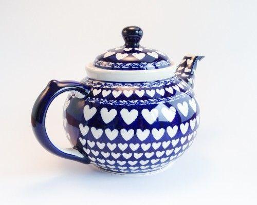 Teapot 1.25l Teapot 1.25l #PotteryCorner #Boleslawiec #Polishpottery #teapot