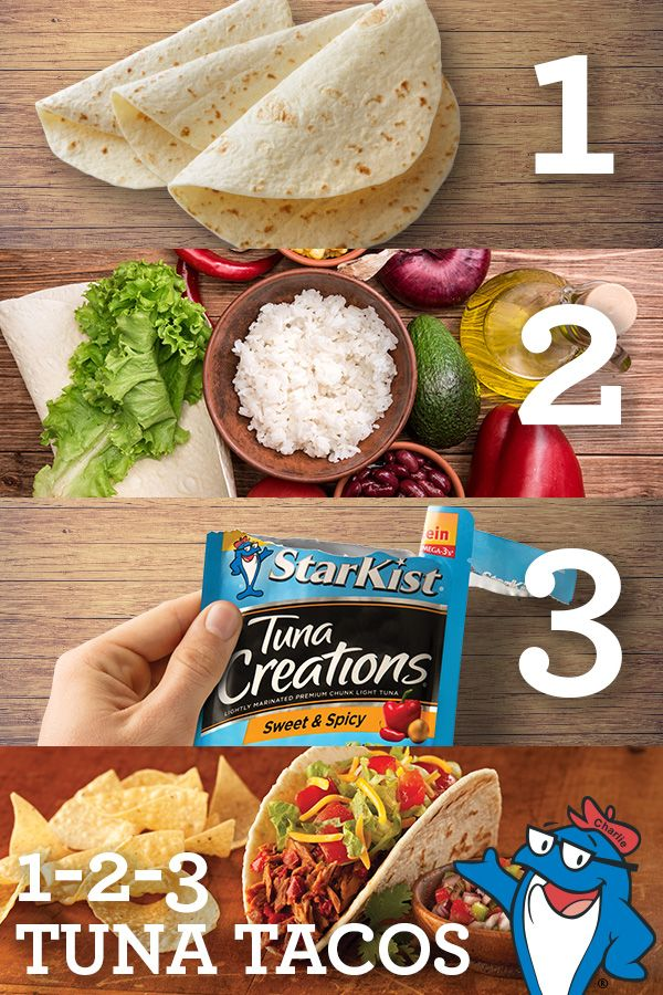 3 steps. 1 awesome Tuna Taco recipe. Healthy, protein-packed meal thanks to StarKist? Now you're doing something right! #whatsyourhunger